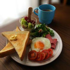 バタートーストで朝ごはん
