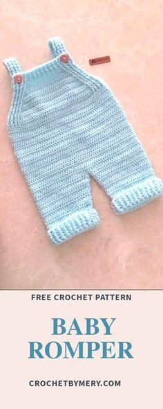 Crochet Baby Clothes Boy, Crochet Baby Pants, Baby Girl Crochet, Crochet For Boys, Boy Crochet Patterns, Baby Patterns, Easy Baby Knitting Patterns, Crochet Onesie, Crochet Bebe