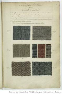 * Manufactures à Rouen // 1737 // Coutils de chasses - Echantillons d'étoffes et de rubans recueillis par le Maréchal de Richelieu