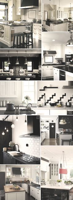 Black and white kitchen styles