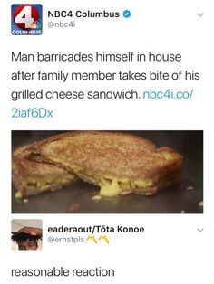 Suddenly I want some grilled cheese