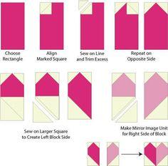 Patchwork Hearts Quilt Block & Quilt Pattern