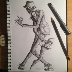✝️O Homem Torto✝️   Terror: Under The Bed Amino Creepy Drawings, Dark Drawings, Cool Art Drawings, Art Sketches, Horror Drawing, Horror Art, Coraline Art, Alice In Wonderland Drawings, Ink Pen Art