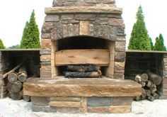 30 Perfect Outdoor Fireplace Pictures | CreativeFan