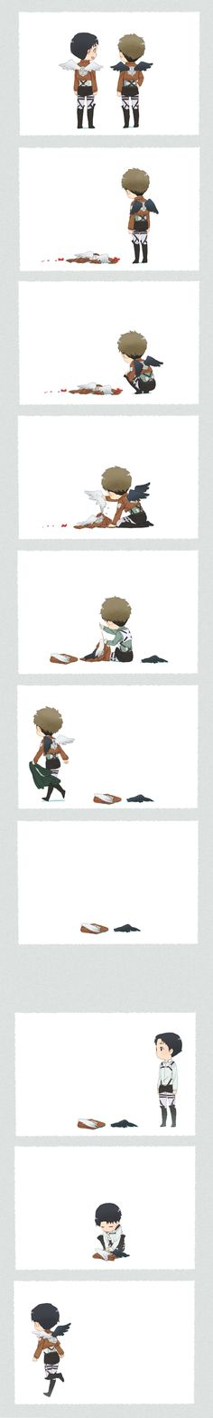 Attack on Titan ~~ If this doesn't make you cry, you should see a doctor. :: Jean and Marco