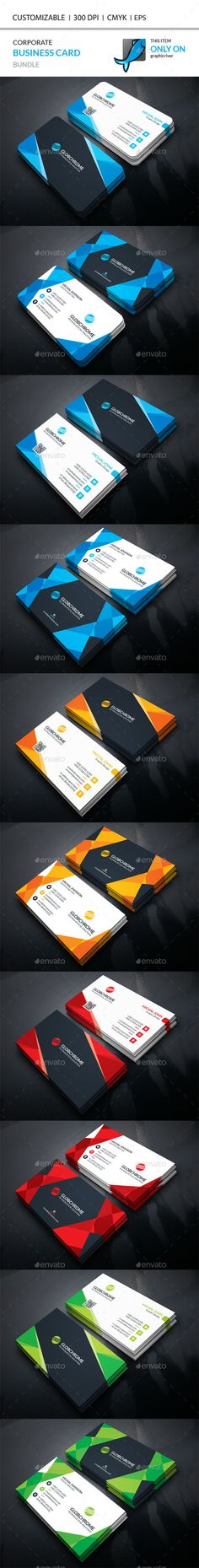 2 Corporate Business Card Templates Vector EPS, AI Illustrator. Download here: https://graphicriver.net/item/corporate-business-card-bundle/17163885?ref=ksioks