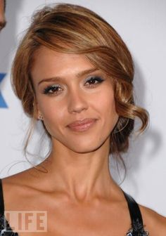 Jessica Alba updo ,  Ashley i like this  hairdo for Lindsay.