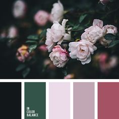 Conjures up thoughts of a wonderful garden in the twilight glow. Graphite and velvety deep green color is equally dark and mysterious. Lilac shades, turning into dark pink differ spontaneity and tenderness. The palette will create an elegant interior is equally suitable for both bedrooms and living room.