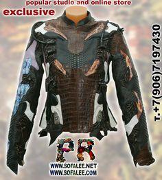 Youth alligator python stingray mink jacket 00