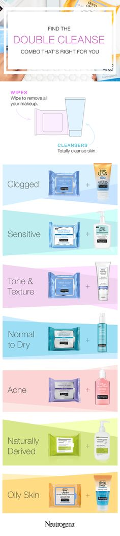 Truth be told, some nights it's tempting to fall into bed without even taking off your makeup – so why would you Double Cleanse? The simple answer: impurities like pore-clogging makeup, sunscreen and pollutants, can compromise your skin and tilt its balance. (Yikes, right?) Our Double Cleansing Method combines two products that work together. First, wipe away all your makeup, then follow with cleanser to totally cleanse your skin.