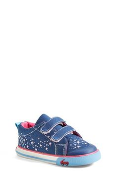 See+Kai+Run+'Veronica'+Canvas+Sneaker+(Baby,+Walker+&+Toddler)+available+at+#Nordstrom