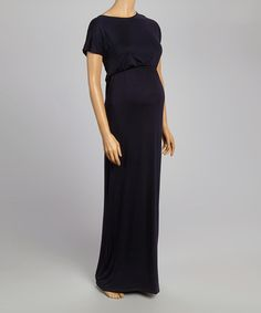 Look at this #zulilyfind! Navy Maternity Maxi Dress #zulilyfinds