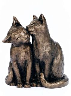 Yum Yum and Friend- Bronze Cat Ornament More