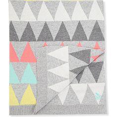 BONNIE BABY Geometric knit blanket #giftidea