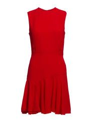 Ruffle skirt dress - Bright red