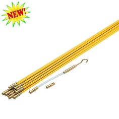 33' Electric Fiberglass Wire Pull Rods Fish Tape http://ift.tt/2B9C70j #Electric #Fiberglass #Wire #Pull #Rods #Fish #Tape #Business #Industrial #Electrical #Test #Equipment #Connectors #Switches #Wire #cable #Tools #Pullers #pukastores