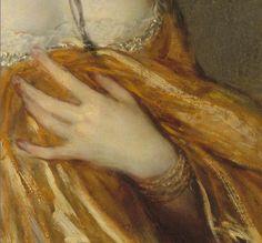 Portrait of Mrs. Grace Dalrymple Elliott (detail), 1778, by Thomas Gainsborough (1727-1788)