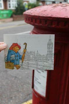 paddington bear postcard - draw this Paddington Bear Books, Paddington Bear Party, Ours Paddington, Teddy Hermann, Light Film, Mail Art, My Childhood, Childrens Books, Doodles