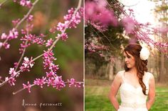 Spring bridal session in charlotte, the orchard house