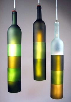 Hanging Wine Bottle Lights