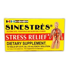 SINESTRES SUPPLEMENT Drinkable Vials SUPLEMENTO BEBIBLE (10)  Price: 14.90 & FREE Shipping  #hashtag4 Vitamin B Complex, Stress Relief, Vitamins, Free Shipping, Cream, Creme Caramel, Vitamin D