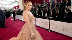 Jennifer Lopez arrives on the red carpet for the 87th Academy Awards on Sunday, February 22.
