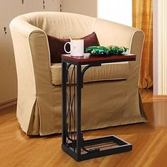 Sofa Snack Table Side Heavy Duty TV Tray Stand Console Coffee Living Room Tables