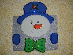cuadro con muñeco de nieve