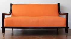 Important Documented Robert and Mito Block Settee or Sofa, Mexico, 1948