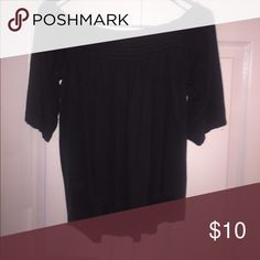 off the shoulder top Charcoal gray soft and sexy collection from American eagle ! No flaws xs or small American Eagle Outfitters Tops