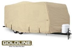 Goldline Premium Long Life RV Cover for Travel Trailer 20 22 Foot Tan Automotive