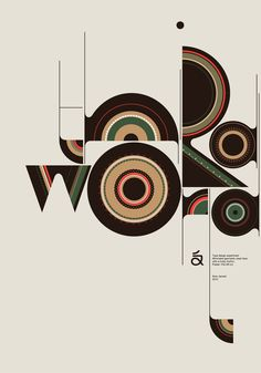 Modern Typographic Posters By Aron Jansco