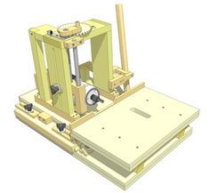 plans for DIY Mortising jig to use with a router