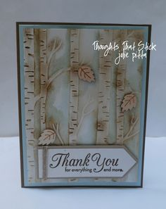 Woodland embossing folder sponge daub with Soft Suede then aqua paint with Soft Sky. See web site for video tutorial