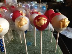 Cake pops with Marines logo