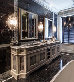 Bespoke bathroom cabinetry in this indulgent master ensuite