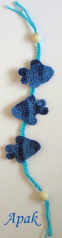 Crochet Fish Applique - Tutorial ❥ 4U //  hf http://www.pinterest.com/hilariafina/