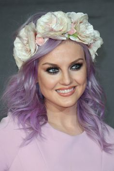I LOVE Perrie's Purple Hair! (:  Sorry mom but someday, I'm gonna try this out!