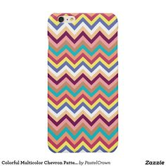 Colorful Multicolor Chevron Pattern Glossy iPhone 6 Plus Case