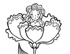Disegno di Principessa Mignolina da colorare, stampare o scaricare. Colora online con un gioco da colorare disegni di Racconti e leggende e potrei dividi e creare la tua propria galleria di disegni online.