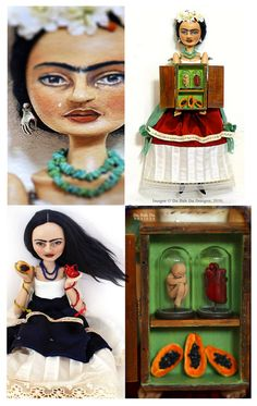 Frida Art Dolls, 2010~Image © Christine Alvarado, Du Buh Du Designs. #frida