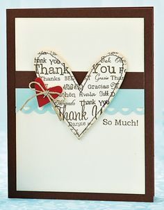 Heart of Thanks Card
