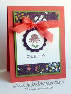 Sale-a-Bration Flowering Fields Card + Sketch Challenge Reminder | Julie's Stamping Spot | Bloglovin'