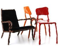 moss > Clay Furniture:  lounge chair by Maarten Baas