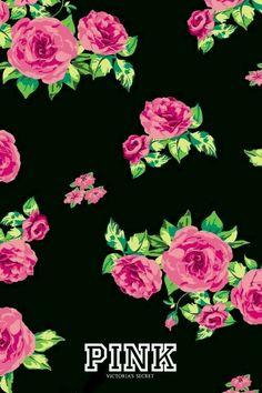 Black flower wallpaper black floral wallpaper pink black floral wallpaper black wallpaper with pink flowers interesting . Pink Nation Wallpaper, Love Pink Wallpaper, Ps Wallpaper, Trendy Wallpaper, Wallpaper Iphone Cute, Cellphone Wallpaper, Flower Wallpaper, Pattern Wallpaper, Cute Wallpapers