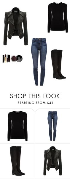 """""""Untitled #17"""" by savannah-pacora ❤ liked on Polyvore featuring Oasis, J Brand, Elia B and Chanel"""