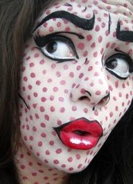 pop art face paint - Google Search