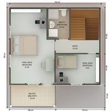 İki Katlı Ev Planları 112 m2