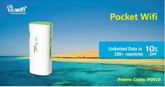 Using the Promo Code to get a 10% off for a Pocwifi with you, make you always stay connected during the travel