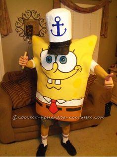 "Homemade Spongebob Halloween costume. This site is the ""Pinterest"" of homemade costumes."